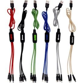 Metallic Logo Light Up Cable (3')
