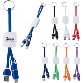 Slide Charging Cables on Key Ring