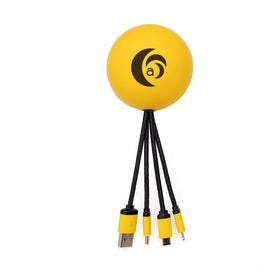Smiley Face Stress Ball Charging Cables