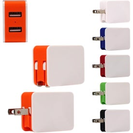 UL 2 Port USB Folding Wall Charger