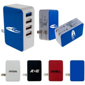 4-Port USB Folding Wall Charger (UL Listed)