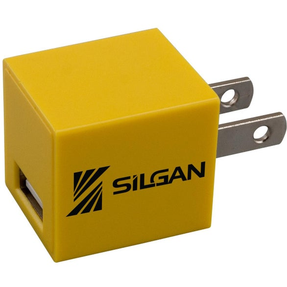 Yellow Square USB Wall Charger