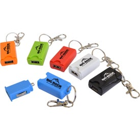 USB Car Charger on Keychains