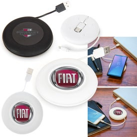 Wireless Charger with Built-in Cable