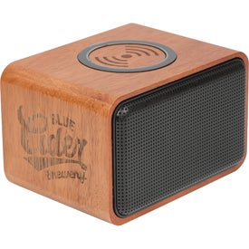 Wood Bluetooth Speaker with Wireless Charging Pad (1200 mAh)