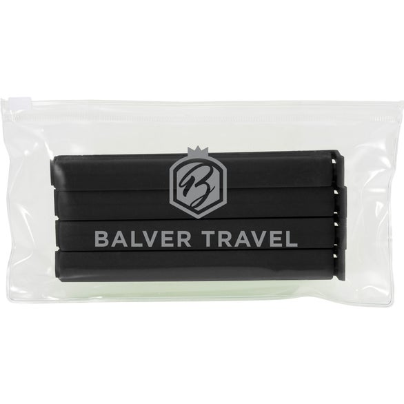 Clear / Black Chip Clips in Bag