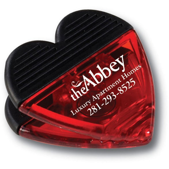 Red / Black Heart Shaped Clip with Magnet