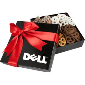 4 Delights Gift Box with Assorted Mini Pretzels