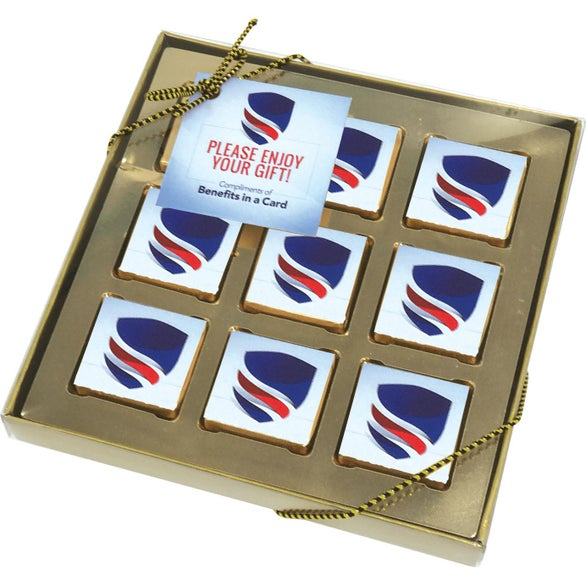White 9 Piece Chocolate Gift Box