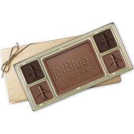 Custom Chocolate Squares Gift Boxes (6.5 Oz.)