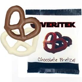 Custom Individually Wrapped Chocolate Pretzel