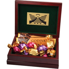 Deluxe Wood Box with Godiva Chocolates