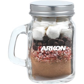 Hot Chocolate Kit in Mini Glass Mason Jar