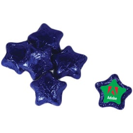 Individually Wrapped Chocolate Star