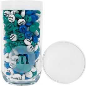 Logo Personalized M&M's Gift Jar