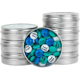 Logo Personalized M&M's Tin (1.5 Oz.)