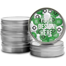 Logo Personalized M&Ms Tins with Custom Lid (1.5oz.)