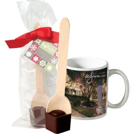 Mug and Hot Cocoa Spoon Sets (11 Oz.)