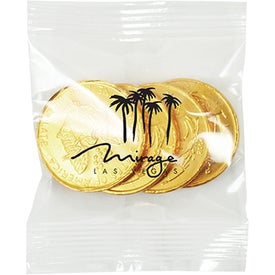 Promo Snax Bags with Gold Chocolate Coins (1 Oz.)