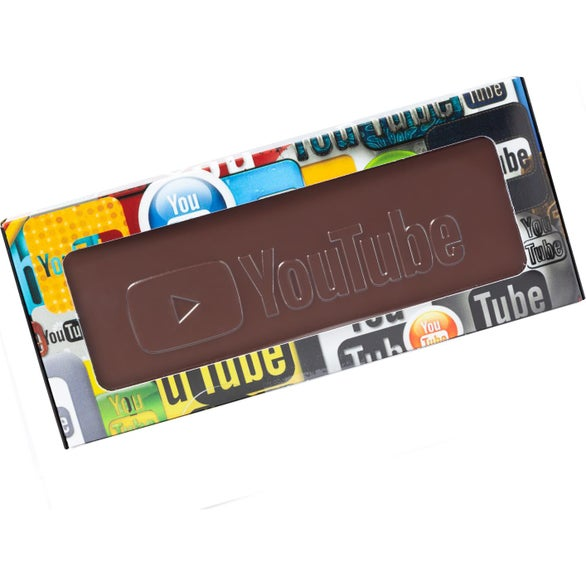 Full Color Imprint Rectangle Chocolate Window Box