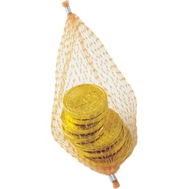 Stock Chocolate Coins in Mesh Pouch
