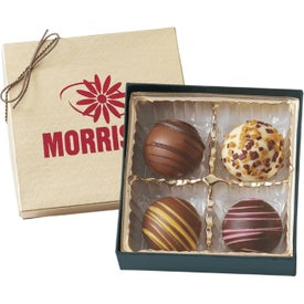 Truffle Gift Boxes with 4 Truffles