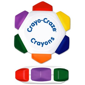 Crayo-Craze 6 Color Crayon Wheel (White)