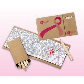 Awareness Ribbon Adult Coloring Book and 6-Color Pencil Set