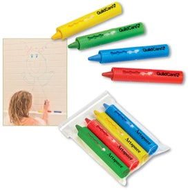 Bathtub 4 Color Crayon Set