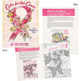 Color For The Cause Breast Cancer Awareness Coloring Book (12 Sheets)
