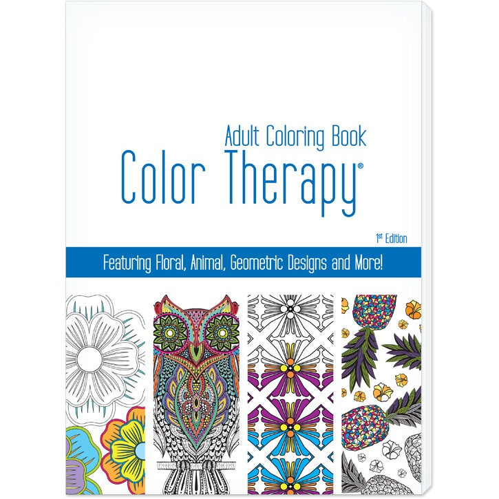 Promo Color Therapy Adult Coloring Books (24 Sheets) Toys And Fun  Coloring Materials