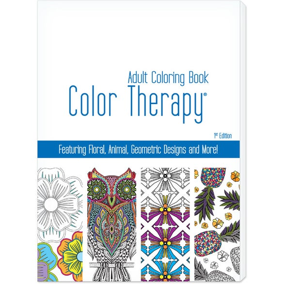 Promotional Color Therapy 24 Page Adult Coloring Books with Custom ...