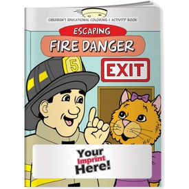Escaping Fire Danger Coloring Book (10 Sheets)
