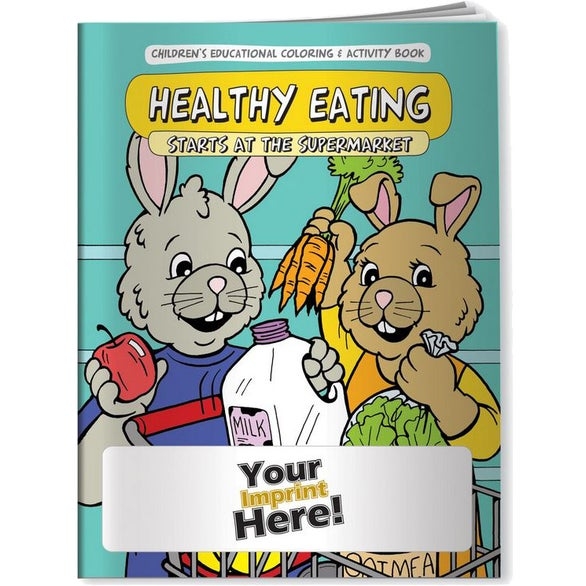 See Item Healthy Eating Starts at the Supermarket Coloring Book