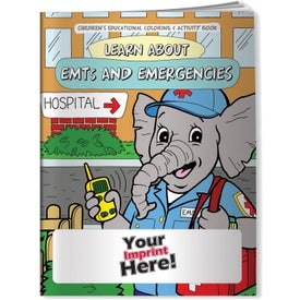 Learn About EMTs and Emergencies Coloring Books (10 Sheets)
