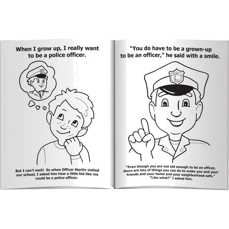 - Advertising My Visit With A Police Officer Coloring Books (10 Sheets)  Toys And Fun Coloring Materials