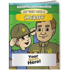 My Visit with a Sheriff Coloring Book (10 Sheets)