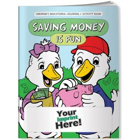 Saving Money Is Fun Coloring Book (10 Sheets)