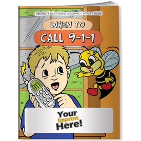 When to Call 9-1-1 Coloring Book (10 Sheets)