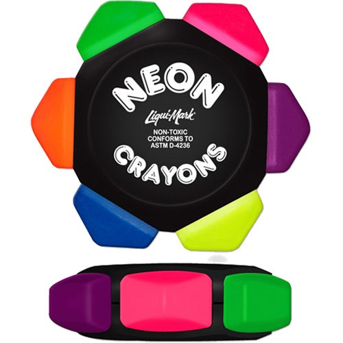 Black Crayo-Craze 6 Color Neon Crayon Wheel