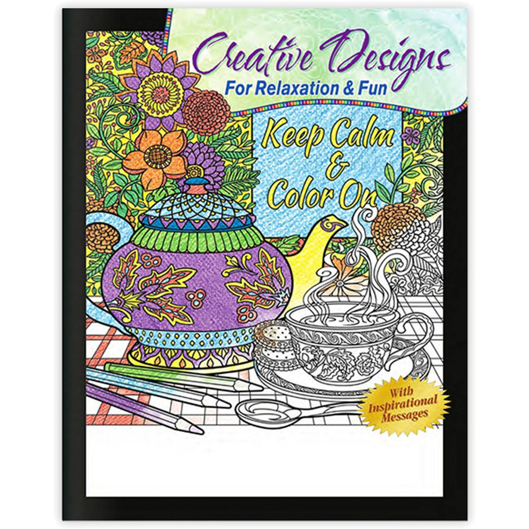 Promotional creative designs for relaxation fun adult Coloring book and crayons