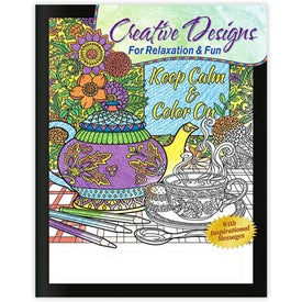 Creative Designs for Relaxation and Fun Adult Coloring Book (12 Sheets)