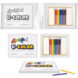U-COLOR Canvas Art and 8 Color Marker Set