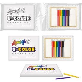 U-COLOR Canvas Art and 8 Color Marker Set