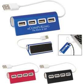 4 Port Aluminum Wave USB Hub