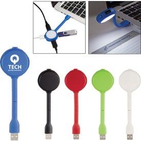 4 Port USB Hub With Book Light