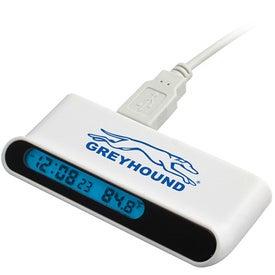 Branded Hi-Speed USB Hub with Clock