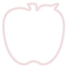 "Fabric Surface Apple Mouse Pad (8"" x 8"" x 0.125"")"