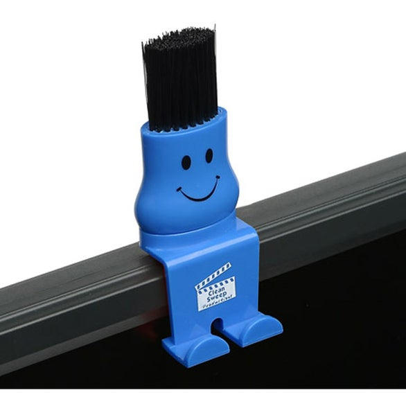Blue Bristle Buddy Computer Duster