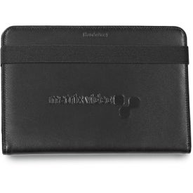 """Brookstone 7"""" Leather Tablet Stand with Your Logo"""